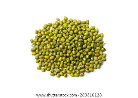 Mung Bean isolated on white background - stock photo