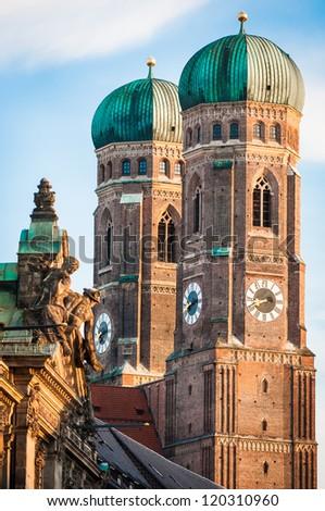 Munich Cathedral - Liebfrauenkirche in Munich - germany - stock photo