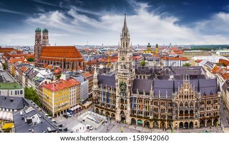 Munich, Germany at City Hall. - stock photo