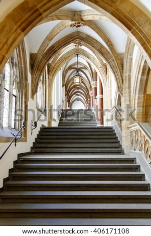 MUNICH, GERMANY - AUGUST 3, 2015: Interior of the New Town Hall. It hosts the city government including the city council, offices of the mayors and part of the administration. - stock photo