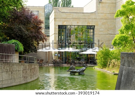MUNICH, GERMANY - 4 AUGUST 2015: New  Pinacotheca, one of the most important art museums of the nineteenth century in the world. Its focus is European Art of the 18th and 19th century - stock photo