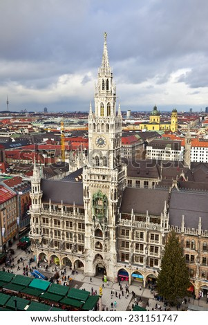 Munich, Germany, Bavaria, the view from the top