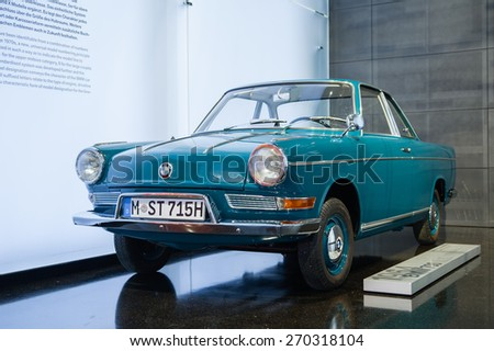 MUNICH / GERMANY - JUNE 4, 2011; The BMW 700 car in BMW Museum.