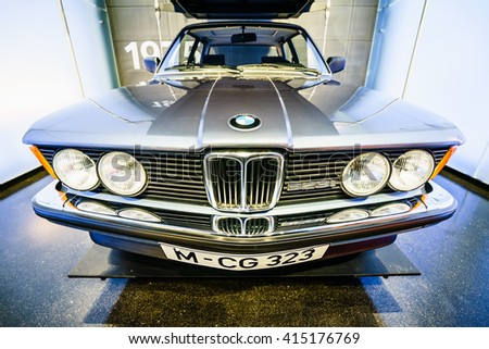 MUNICH, GERMANY   MARCH 15: BMW Cars And Motorcycle At The BMW Museum And