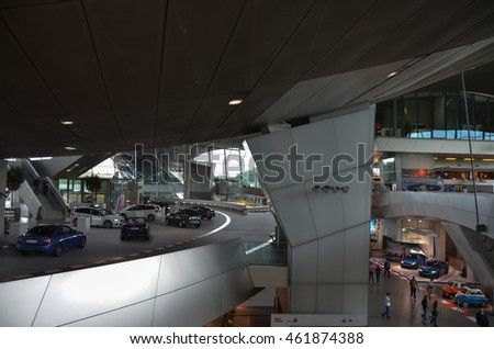 MUNICH - GERMANY MAY 30: BMW Welt (BMW World) building on May 30, 2016, Munich, Germany.