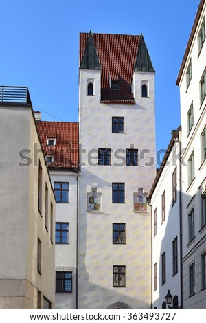Munich, Germany. The architecture of the Old Town