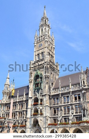 Munich, Germany. The historical building of the New Town Hall