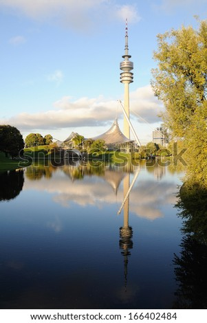 Munich - Olympic park - stock photo