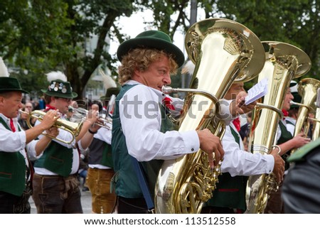 MUNICH - SEPTEMBER 22: Opening of Oktoberfest September 22, 2012 in Munich, Germany