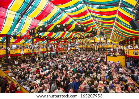 MUNICH - SEPTEMBER 30 The Hippodrom Beer Tent on the Theresienwiese Oktoberfest fair grounds September & Beer Tent Stock Images Royalty-Free Images u0026 Vectors | Shutterstock