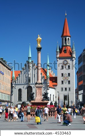 Munich Town Square, Germany - stock photo