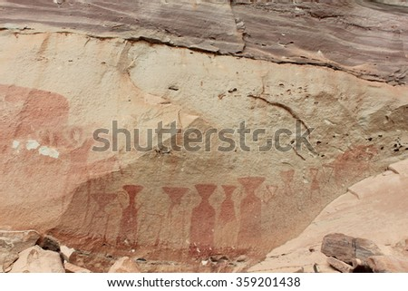 Mural ancient inthailand - stock photo
