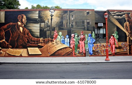 Mural Painted On A Wall On South Street In Philadelphia Part 36