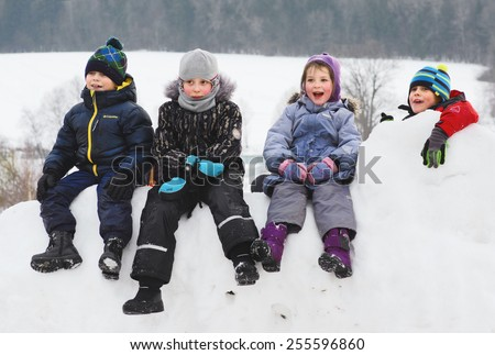 MURANOVO - February 22: Winter feast in Russia (Shrovetide, Maslenitsa). Variety of emotions of viewers. On February 22, 2015 in Museum-Reserve Muranovo named after F.Tyutchev. Moscow region, Russia - stock photo