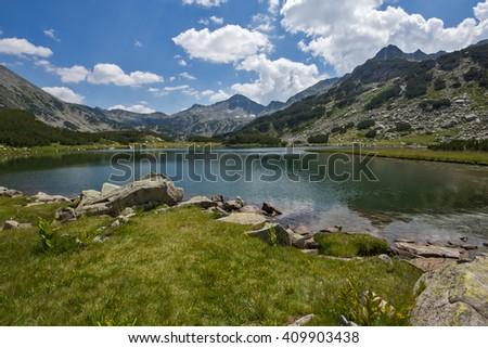 Muratovo Lake, Pirin Mountain Landscape, Bulgaria - stock photo