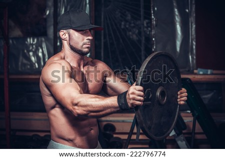 muscle man in club