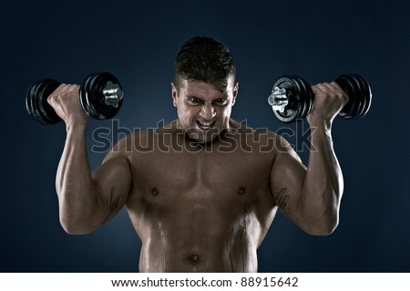 Muscle man, lots of muscles, working out, loving life. Very well built, very attractive.