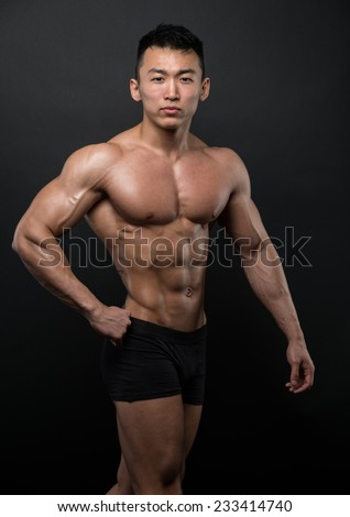 Muscled korean male model