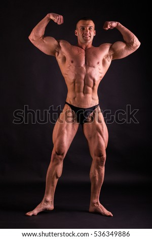 Muscular Male Body Result Bodybuilding Workouts Stock Photo Royalty