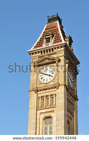 Museum and Art Gallery, Council House Clock Tower in Chamberlain Square, Birmingham - UK - stock photo