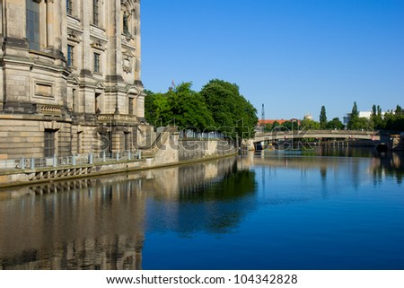 Museum island and river Spree, Berlin, Germany - stock photo
