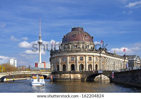 museum island with Bode-Museum in Mitte, Berlin, germany - stock photo
