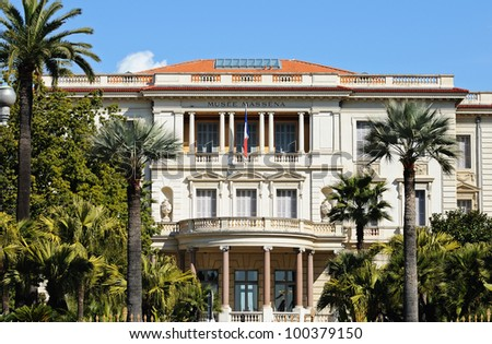 Museum Massena (Musee Massena) in Nice, France. - stock photo