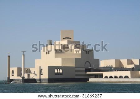 museum of islamic arts in doha - stock photo