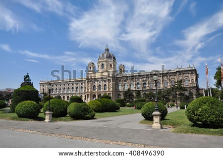 Museum of natural history in Vienna. Austria. - stock photo