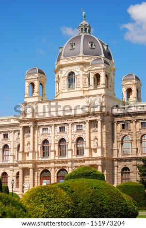 Museum of Natural History The Museum of Natural History in Vienna.  - stock photo