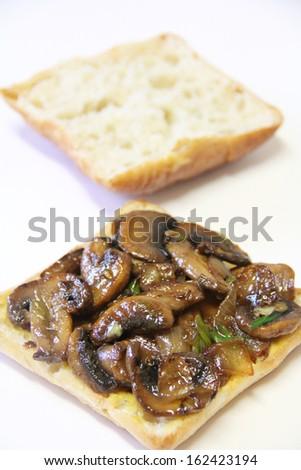 Mushroom Swiss Panini Sandwich - stock photo