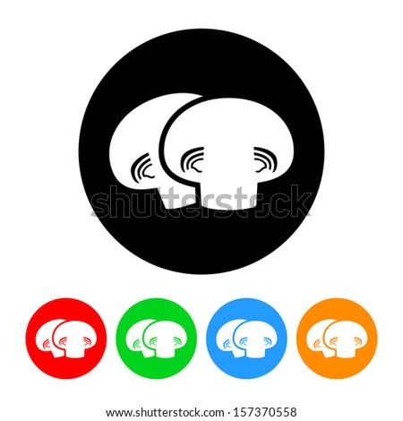 Mushrooms Icon with Color Variations.  Raster version. - stock photo