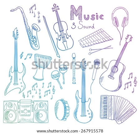 music and sound  - stock photo