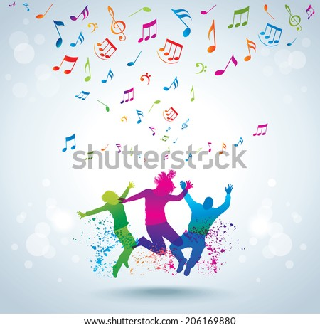 Music and young people. Concept background.  - stock photo