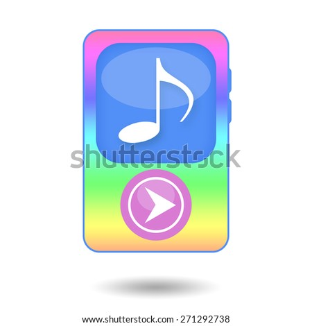Music audio mp3 player - stock photo
