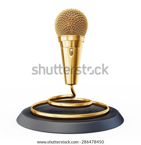 music award simbol isolated on a white  - stock photo
