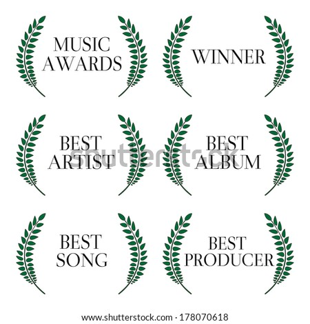 Music Awards Winners 1 - stock photo