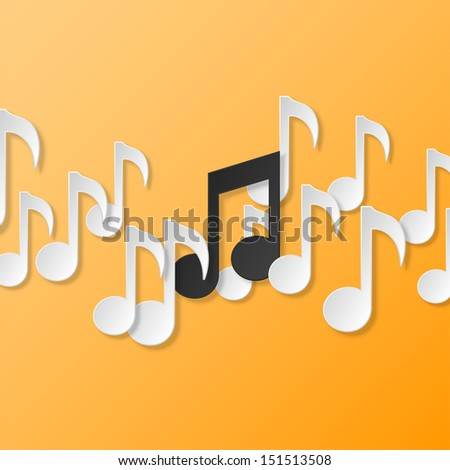 music background illustration - stock photo
