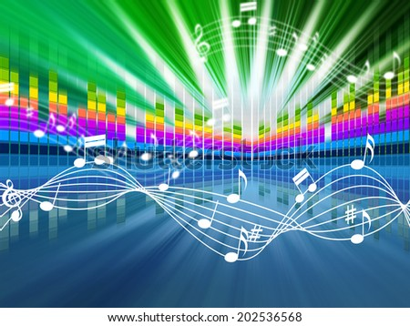 Music Background Meaning Soundwaves Tune And Singing