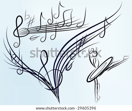music background (Version vector 25833214) - stock photo