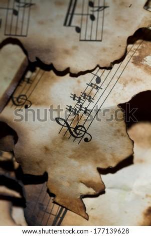 Music Background.Vintage Styled. - stock photo
