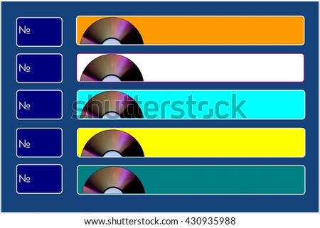 Music board The painting depicts a musical board, where designers can add your favorite songs or singers names.  - stock photo