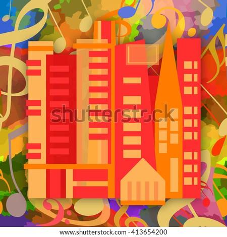 Music city - stock photo