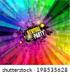 Music Club background for disco dance event with a lot of design elements. Ideal for posters, flyers and advertising panels. - stock photo