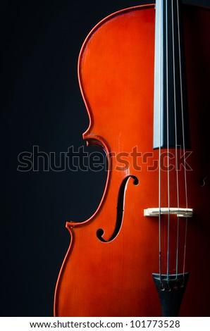 Music concept- close up of cello - stock photo