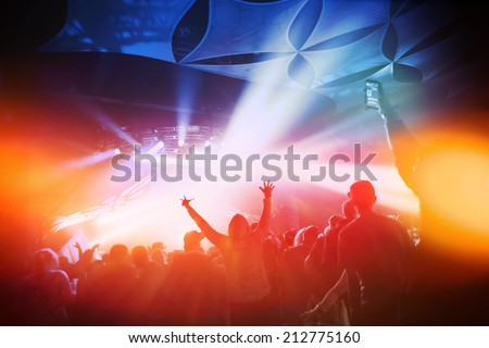 Music Concert. Instagram effect - stock photo