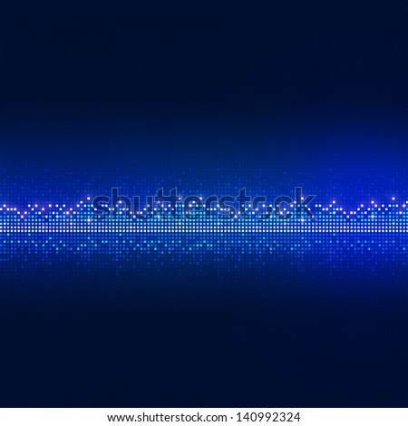 music equalizer background for active nighttime events - stock photo