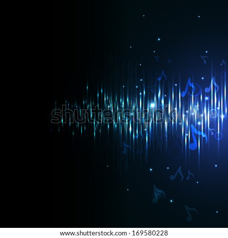 Music equalizer. Raster copy. - stock photo
