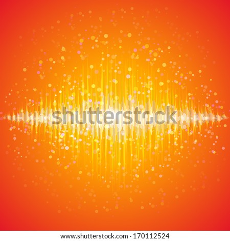 Music equalizer, sound technology. Raster version. - stock photo