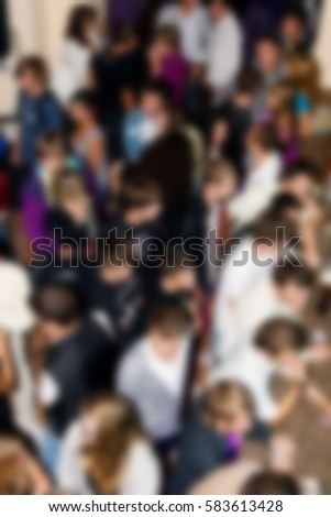 Music festival background of dancing people in night club.Adult night life entertainment event.Concert audience dance on crowded dancefloor in nightclub.Back ground of party people have fun in club